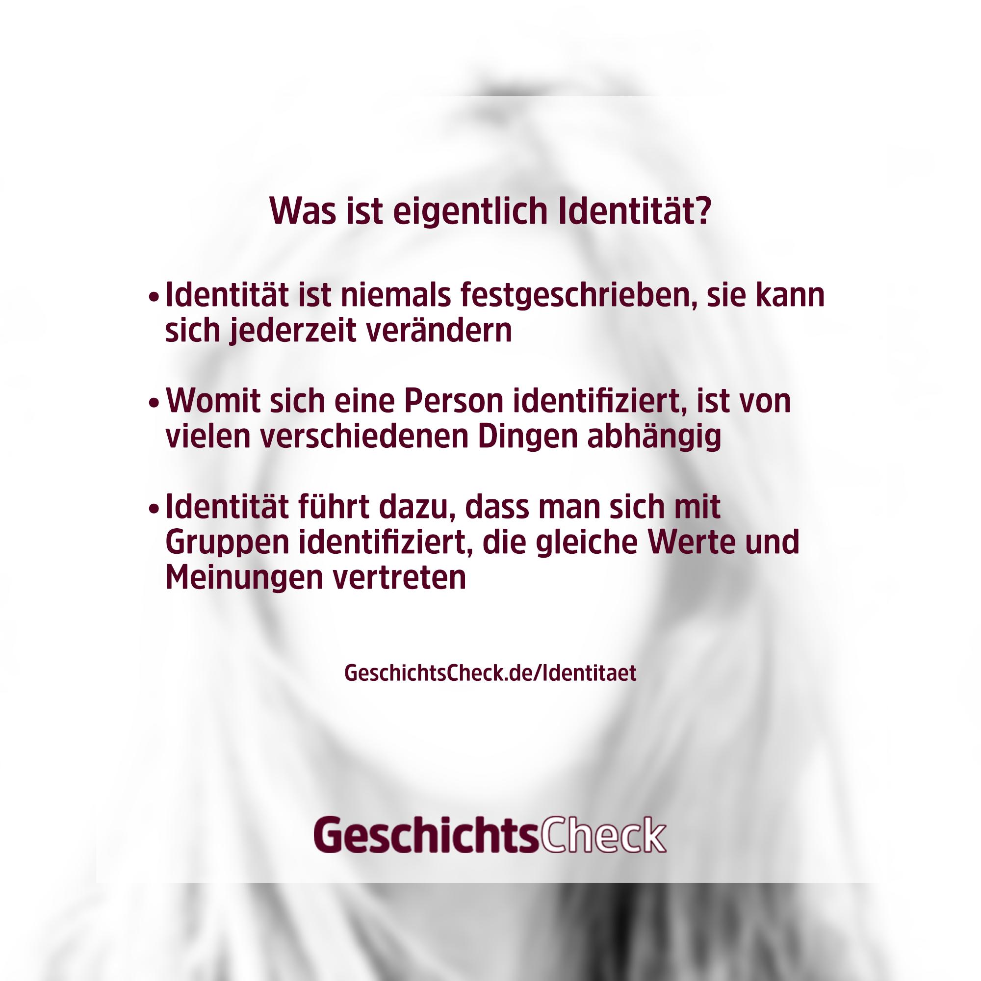 Identität Definition