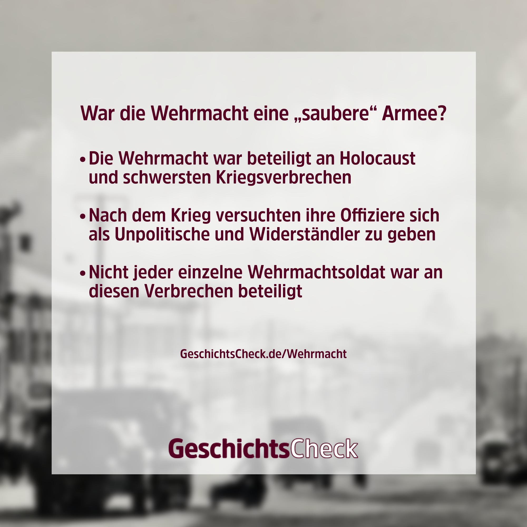 Wehrmacht Geschichtscheck